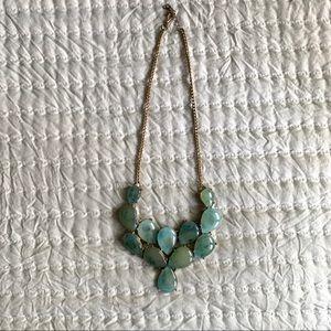 Blue-Green statement bubble necklace